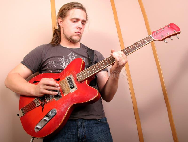 студия гитариста стоковая фотография rf