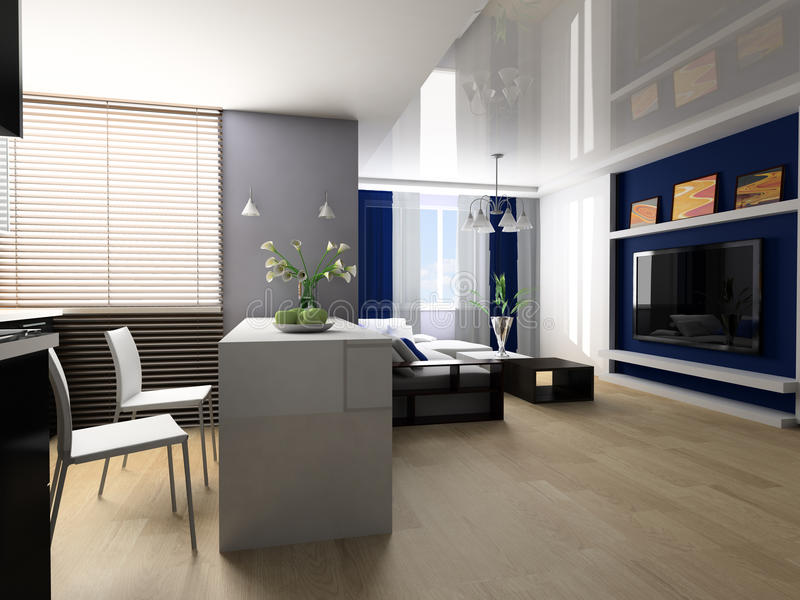 студия квартиры стоковые фотографии rf