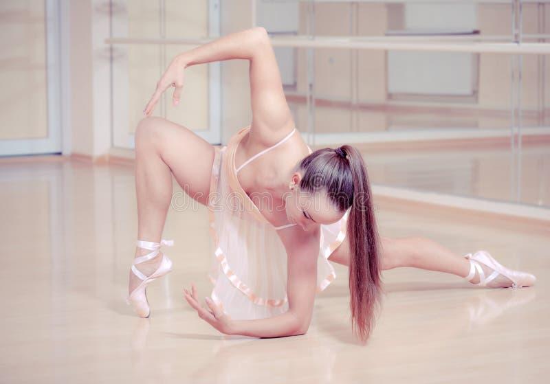 студия пинка gainst платья балерины стоковые фотографии rf