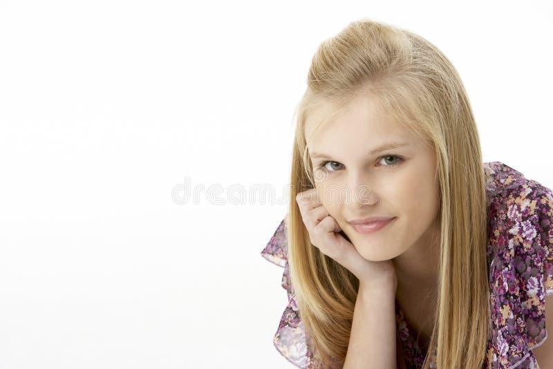 студия портрета девушки подростковая стоковое изображение rf