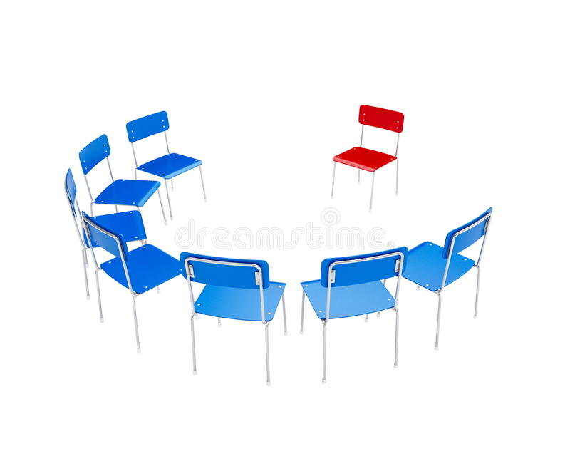 стулы объезжают к иллюстрация вектора