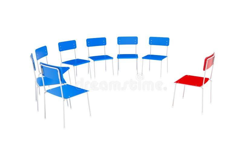 стулы объезжают к иллюстрация штока