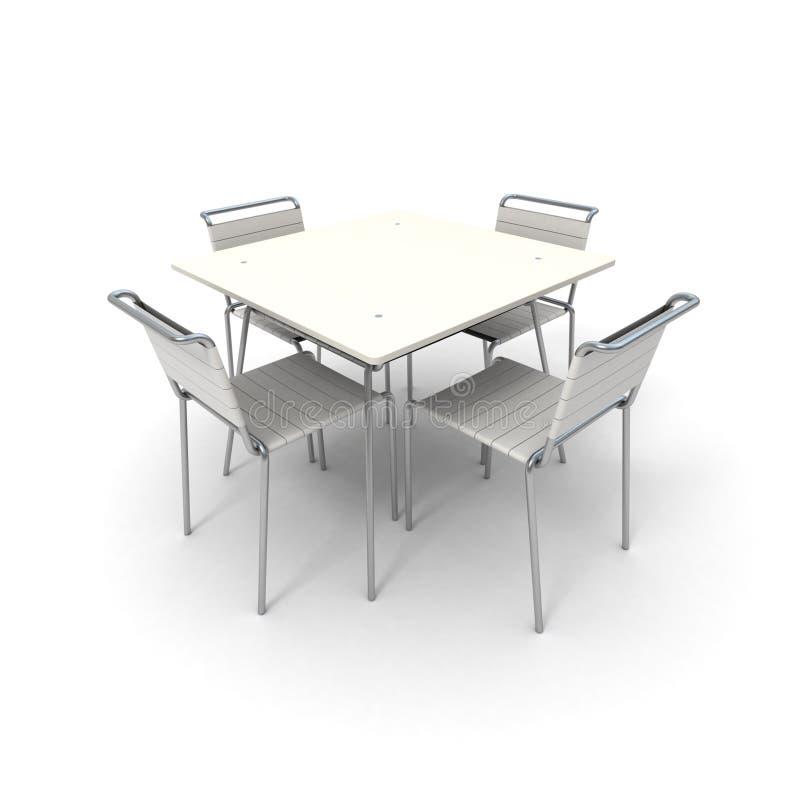 стулы ставят белизну на обсуждение бесплатная иллюстрация