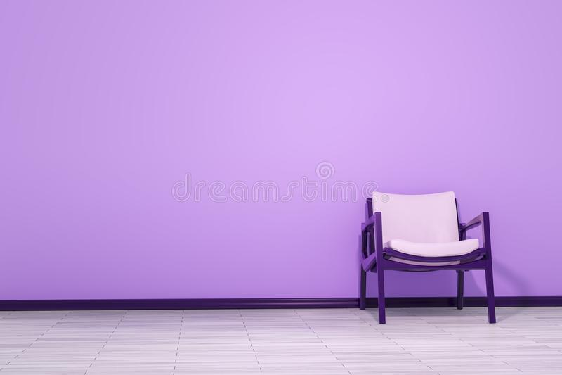 Стул в пустой комнате бесплатная иллюстрация