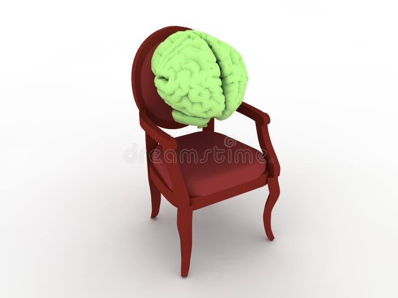 стул мозга иллюстрация штока