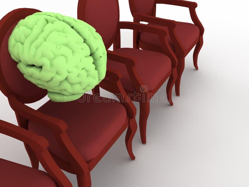 стул мозга иллюстрация вектора