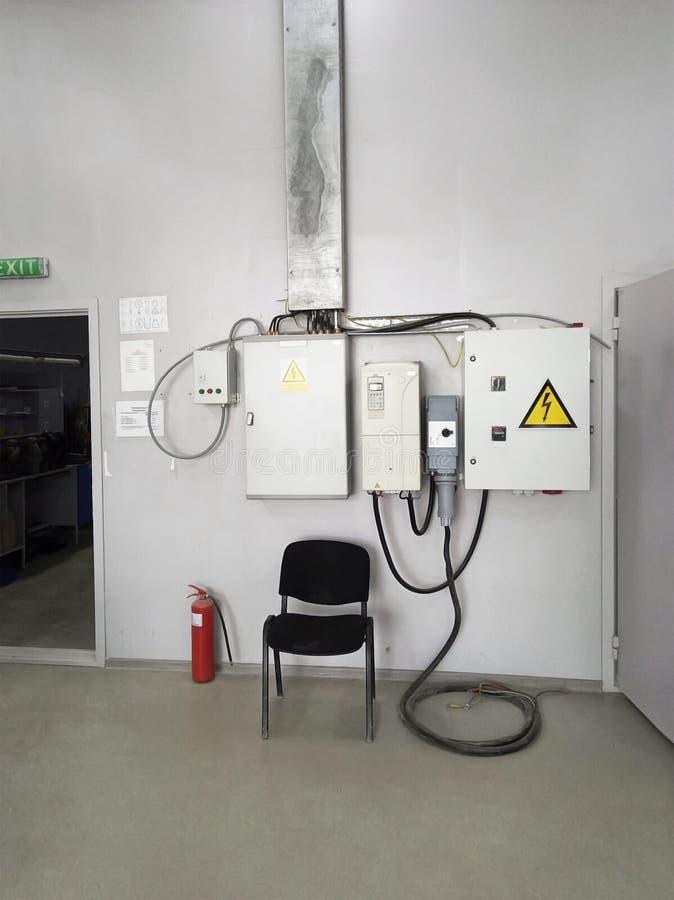 Стул офиса в мастерской стоковое фото rf