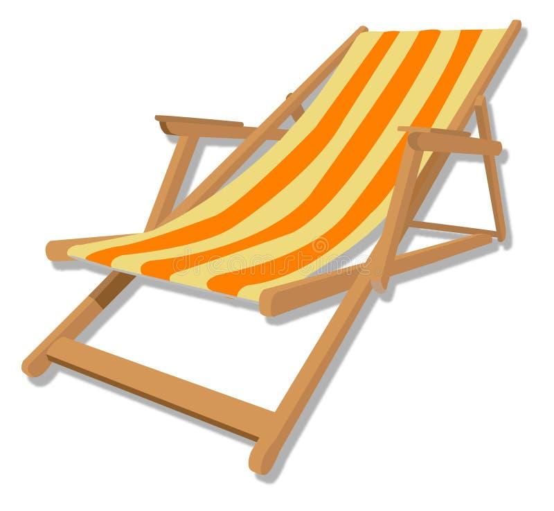 стул пляжа бесплатная иллюстрация