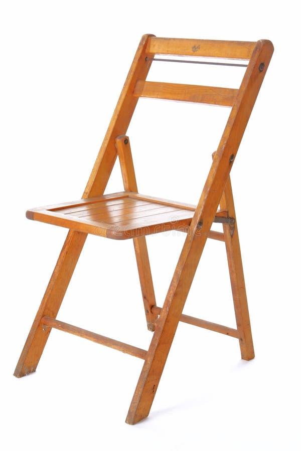 стул складывая ретро деревянное стоковое фото rf