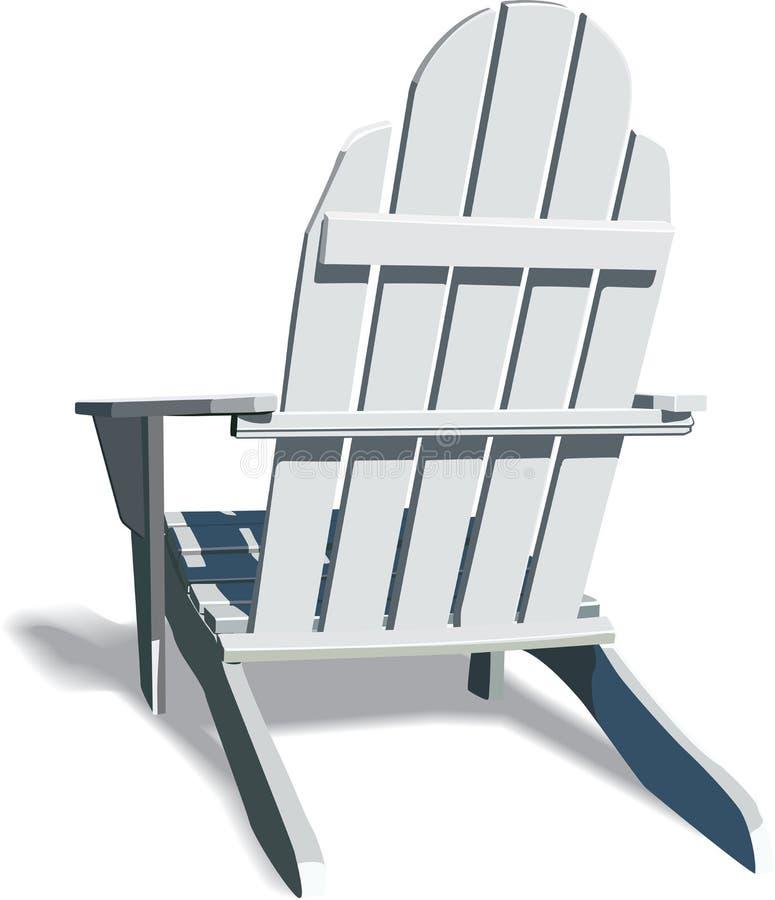 стул adirondack иллюстрация вектора