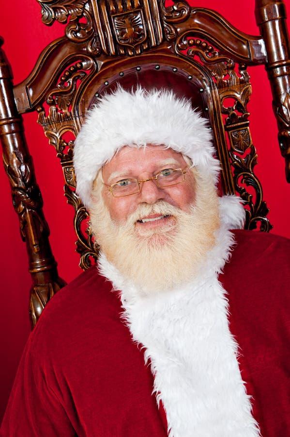 стул claus его santa стоковое изображение
