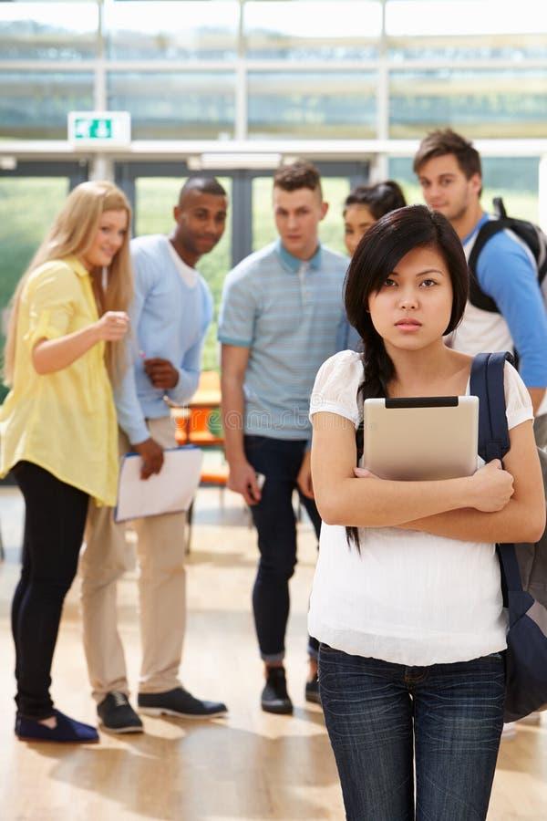 Студентка будучи задиранным одноклассниками стоковые фотографии rf