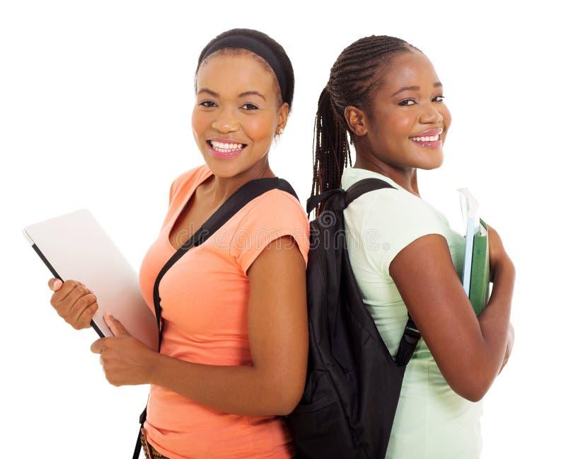 Студенты колледжа американца Афро стоковое изображение rf