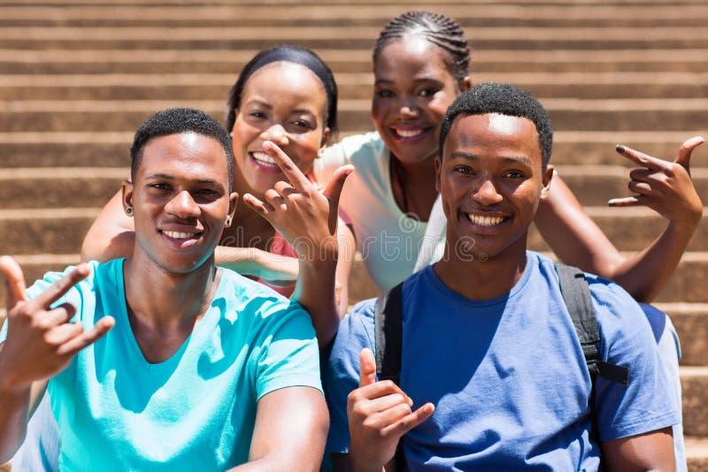 Студенты колледжа группы стоковые фото