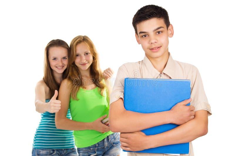 Студенты мальчик и девушка стоковое изображение rf