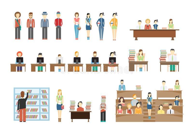 Студенты на университете бесплатная иллюстрация