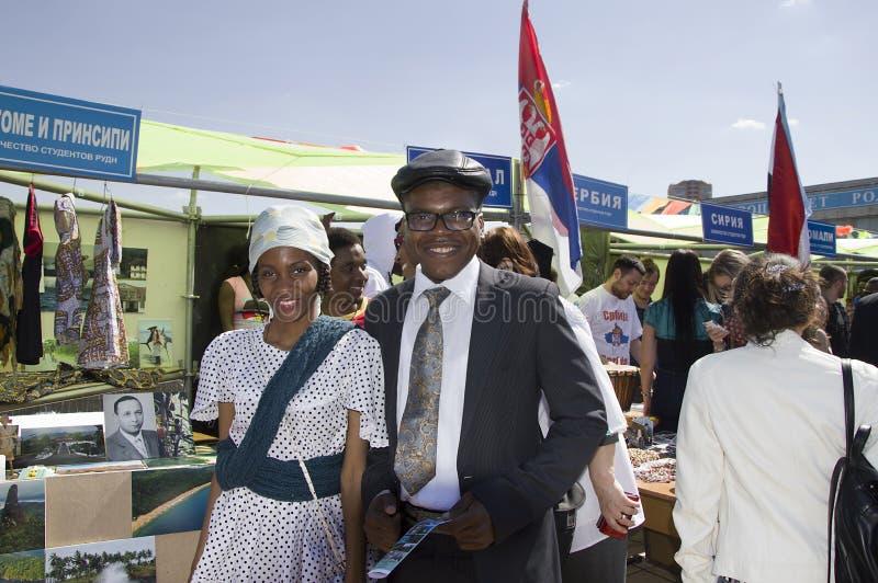 Студенты Сан Томе и Принчипе представляют их национальные костюмы и традиции стоковое изображение rf