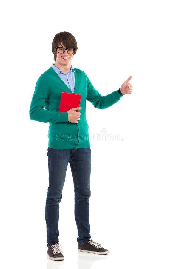 Download Студент давая большой палец руки вверх Стоковое Изображение - изображение насчитывающей фронт, счастье: 40582227