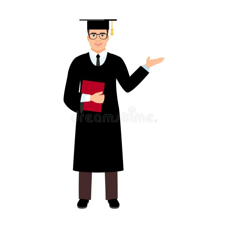 Студент-выпускник студента университета бесплатная иллюстрация