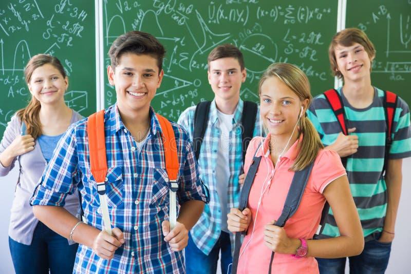 Студент в школе стоковое изображение
