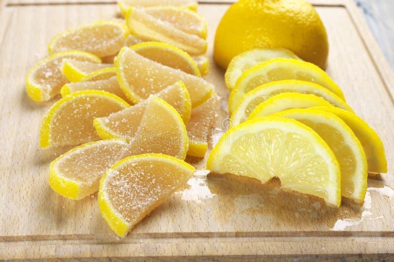 Студень и лимон Candied плодоовощ стоковое фото