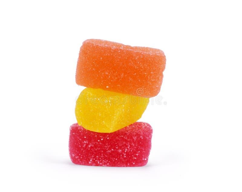 студень конфет цветастый изолированный На белизне стоковое изображение rf