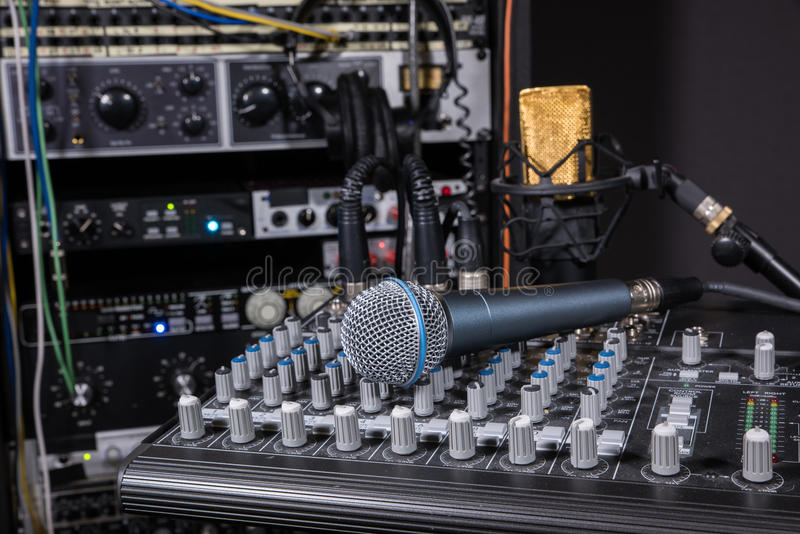 Студия звукозаписи музыки стоковое фото rf