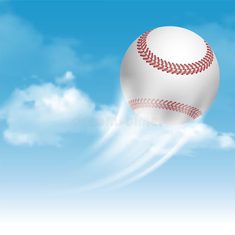студия съемки бейсбола шарика иллюстрация вектора