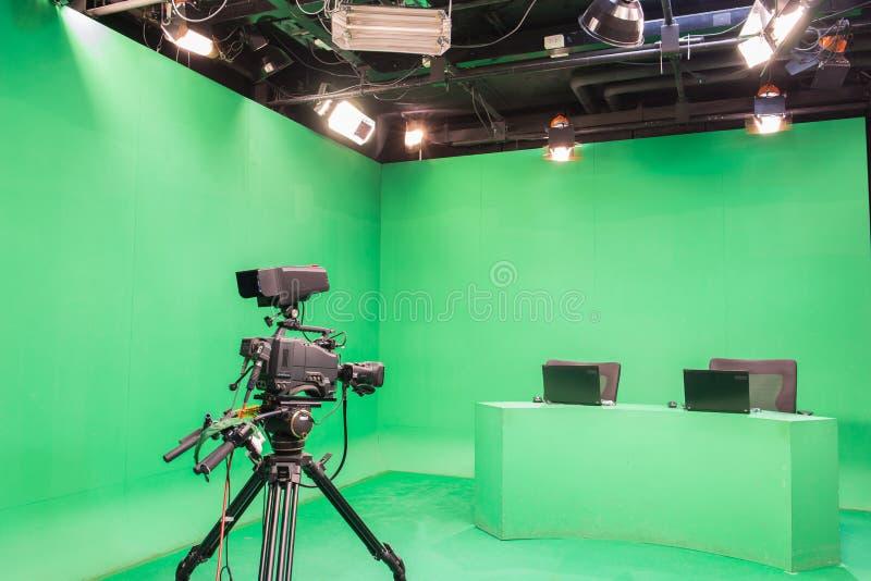 Студия телевидения стоковое изображение rf