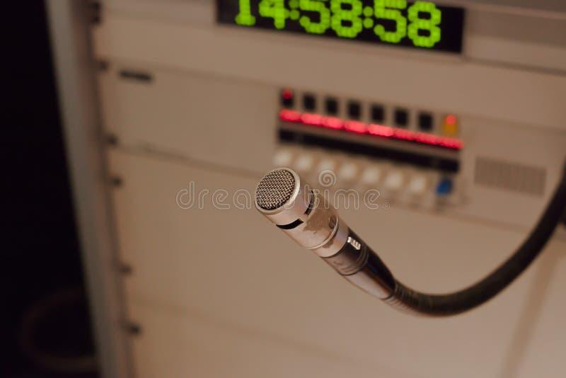 Студия mic стоковая фотография