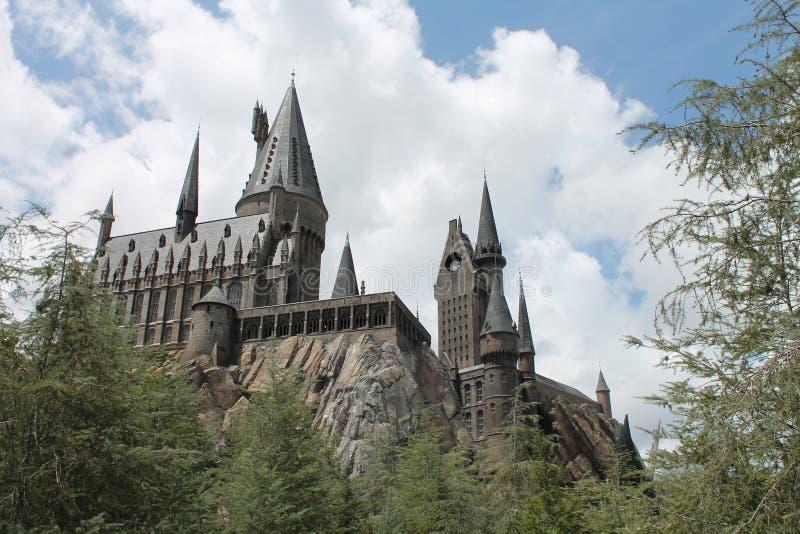 Студия Universal Гарри Поттера замка Hogwarts стоковое изображение rf