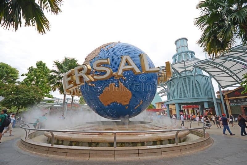 Студия Universal на парке sentosa, Сингапуре стоковое фото rf