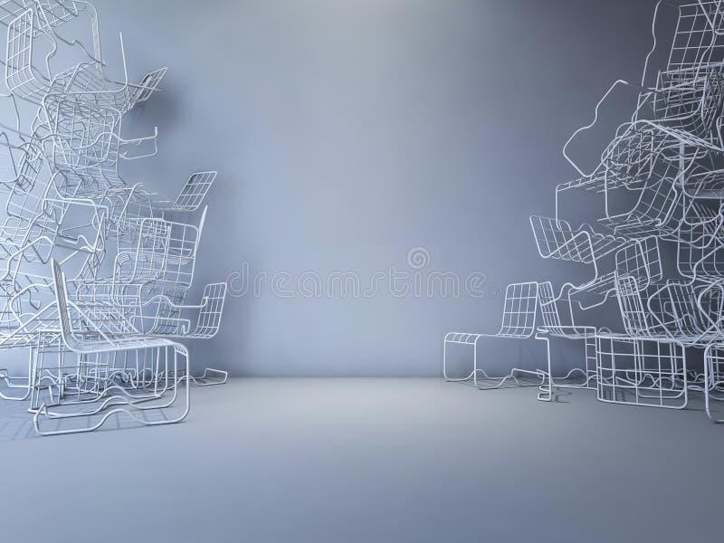 стул провода 3Ds иллюстрация штока