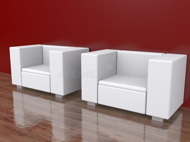 Download 2 стуль в пустой комнате иллюстрация штока. иллюстрации насчитывающей художничества - 41657673