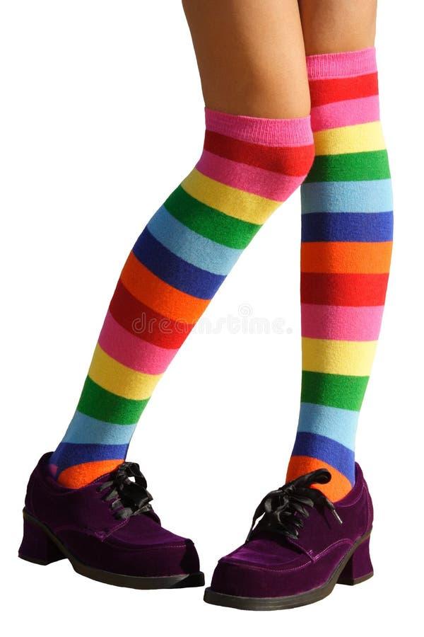 стыдливые ноги стоковое фото rf