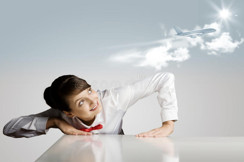 Стюардесса стоковое изображение rf