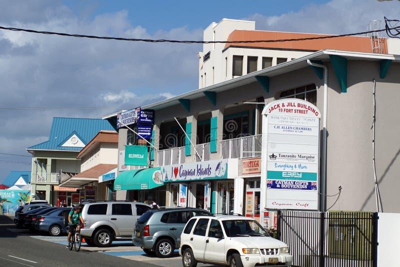 Сувенирные магазины на Grand Cayman стоковое изображение