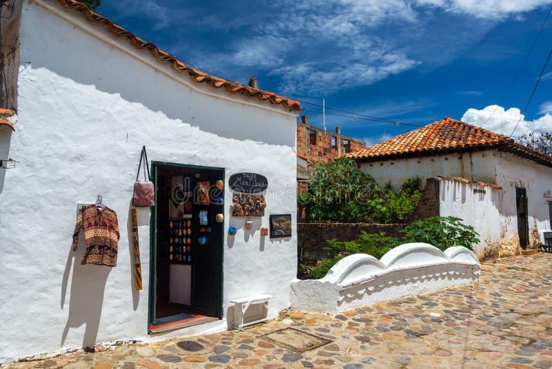 Сувенирный магазин в Вилле de Leyva стоковая фотография rf