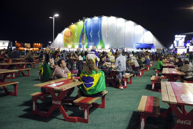 Сувенирный магазин 2016 игры Бразилии - Рио-де-Жанейро - Paralympic стоковое изображение