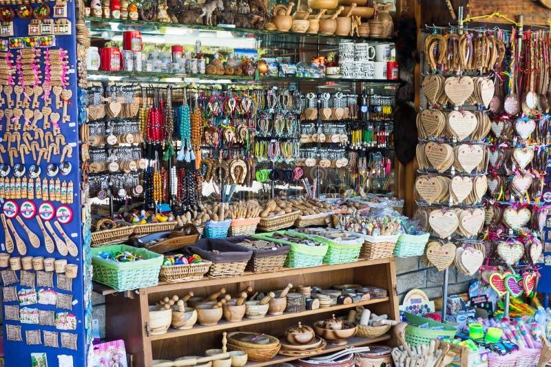Сувенирный магазин, Metsovo, Греция стоковые изображения rf