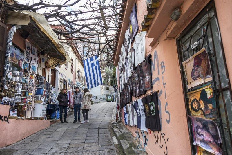 Сувениры в магазине в Афинах, Греции стоковые изображения rf