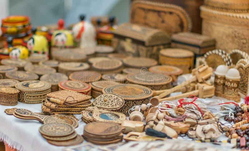 Сувениры сделанные из древесины стоковое фото