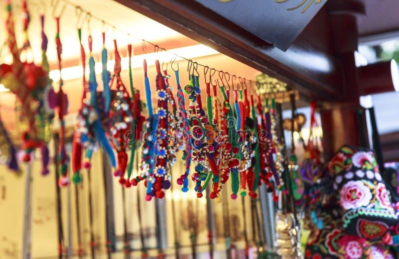 Сувенир на идя улице в Чэнду, Китае стоковая фотография