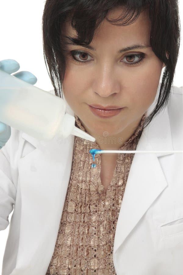 судебнохимическая наука исследователя стоковое фото