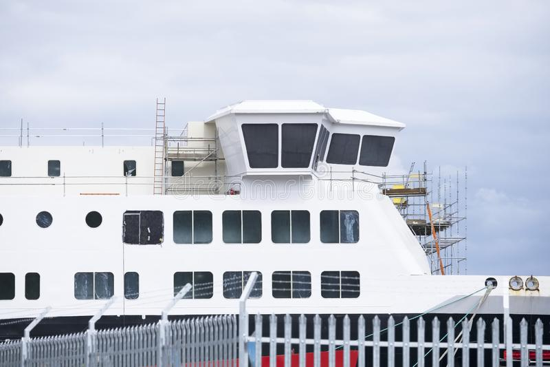 Судостроение и кран в гаван гавани гавани дока ремонтины судостроения Глазго стоковые изображения