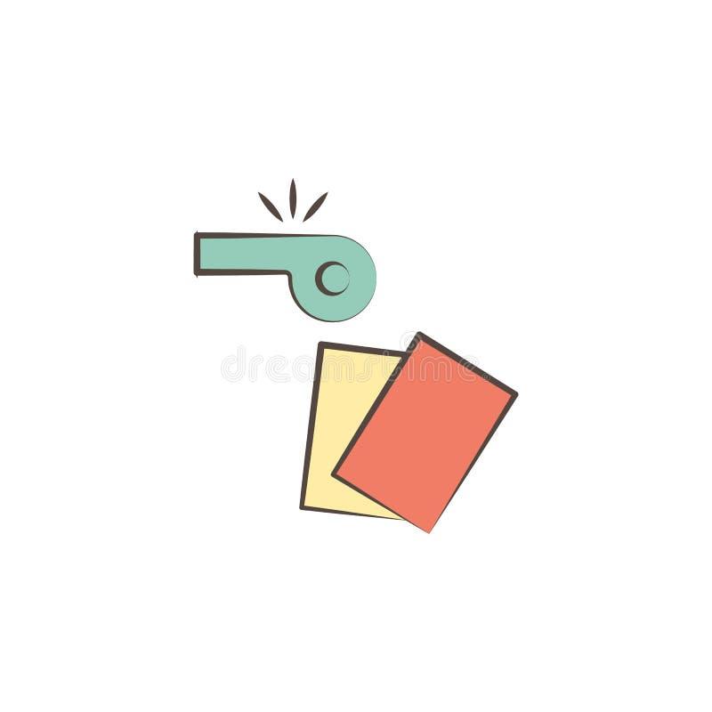 судья оборудует значок Элемент профессий оборудует значок для передвижных apps концепции и сети Значок инструментов судьи эскиза  иллюстрация штока