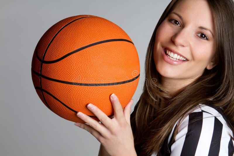 судья-рефери баскетбола стоковое изображение