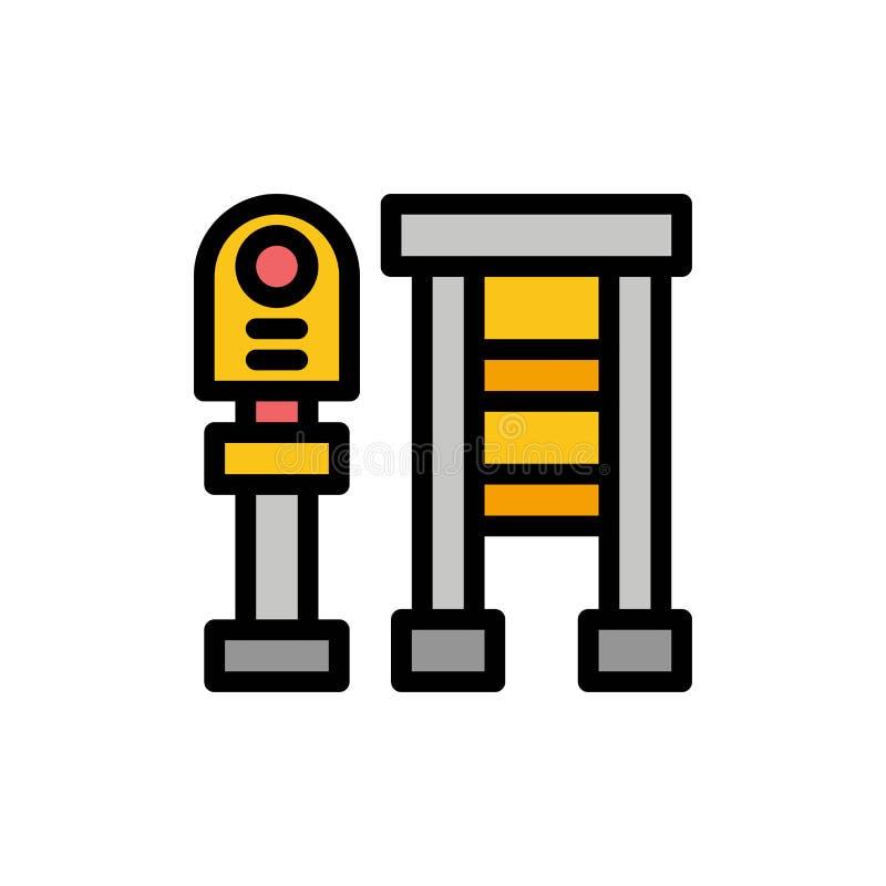 Суд, автобус, станция, значок цвета стопа плоский Шаблон знамени значка вектора иллюстрация вектора