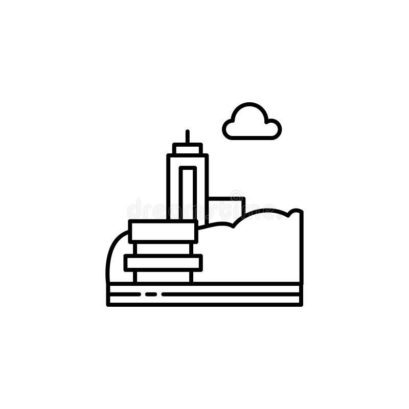 Суд, парк, значок плана города Элемент иллюстрации ландшафтов Знаки и символы конспектируют значок можно использовать для сети, л иллюстрация вектора