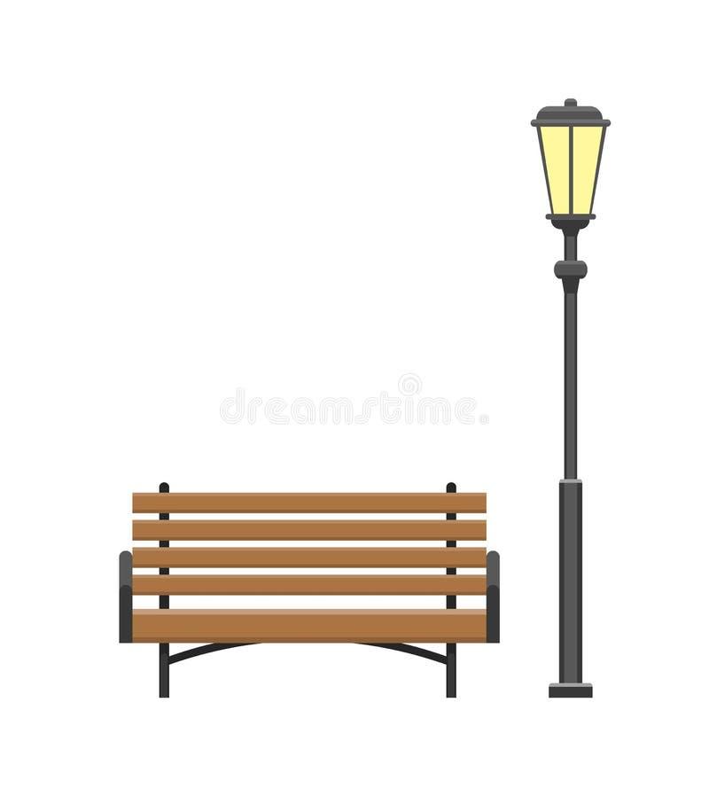 Суд сделанный из деревянного материала с вектором фонарика бесплатная иллюстрация